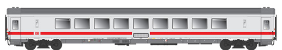 ACME AC52341 - Passenger Coach Bpmz 857.1, DB ICE livery, with traditional intercom
