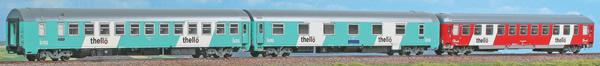 "ACME AC55222 - 3 pcs. Passenger car set ""Thello"" night train"