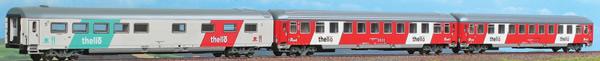 "ACME AC55223 - 3 pcs. Passenger Car Set ""Thello"" night train"