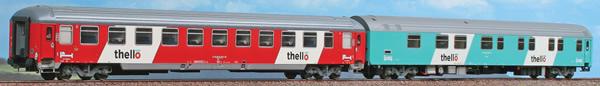 ACME AC55224 - 2-part Passenger Car Set Night train Thello