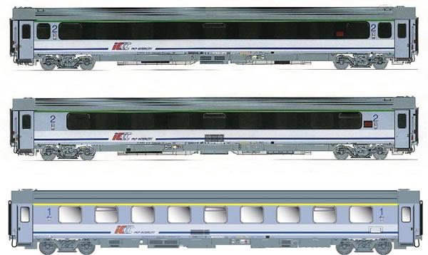 ACME AC90033 - Polish 3pc Passenger Coach Set for internal services of the PKP.