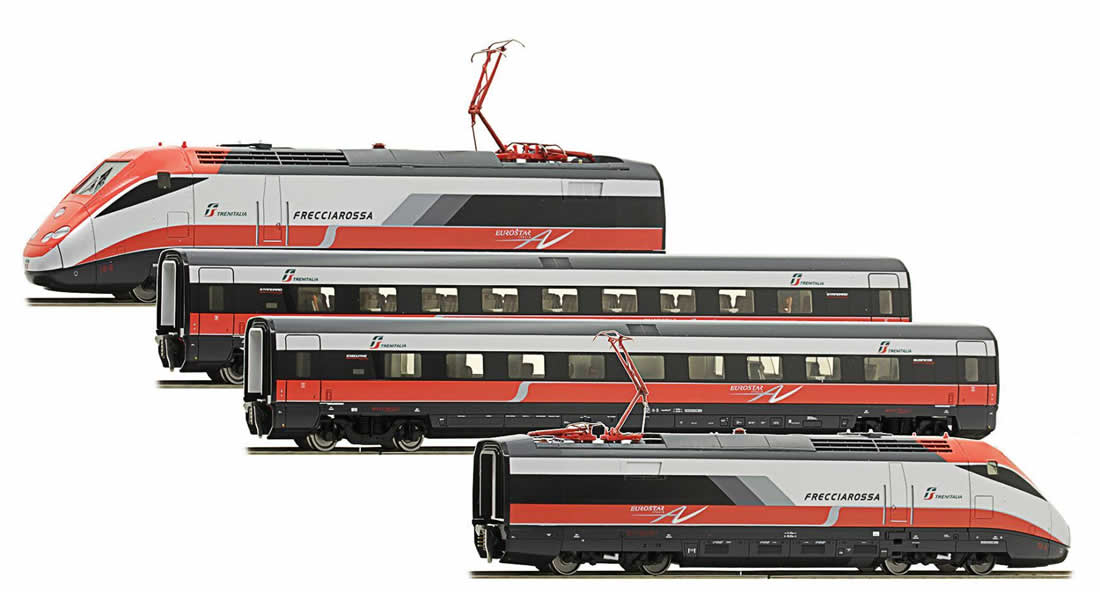 acme ac70060 italian electric high speed unit train set frecciarossa of the fs. Black Bedroom Furniture Sets. Home Design Ideas