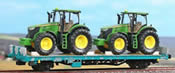 Type Kgps Wagon of FS Loaded with Tractors
