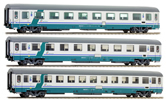 Italian 3pc Passenger Coach Set of the FS