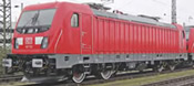 German Electric Locomotive TRAXX 3 187 102 of the DB AG