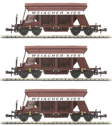 Arnold 6012 - Set x 3 Gravel transport wagons, 3 different- SBB