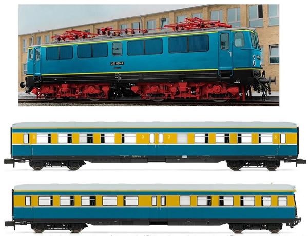 Arnold HN2275 - German 3pc Train Set S-Bahn Leipzig of the DR