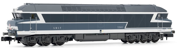 Arnold HN2386 - French Diesel Locomotive CC72000, blue, with road number plates of the SNCF (Digital)