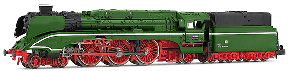 Arnold HN2428D - German Steam Locomotive Class 02 0201-0 with fuel tender of the DR (Digital)