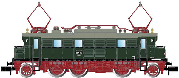 Arnold HN2430 - German Electric locomotive class E04 of the DR, red/green livery
