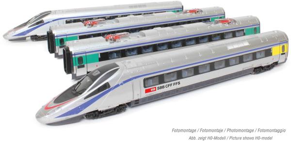 Arnold HN2470S - Swiss 4-unit base EMU set Class ETR 610 of the SBB (Sound)