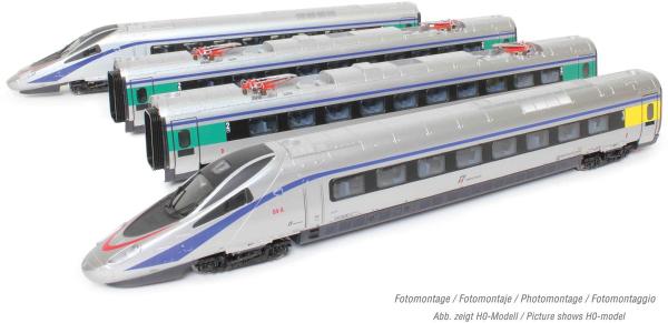 Arnold HN2471S - Italian 4-unit base EMU set Class ETR 610 of the FS (Sound)