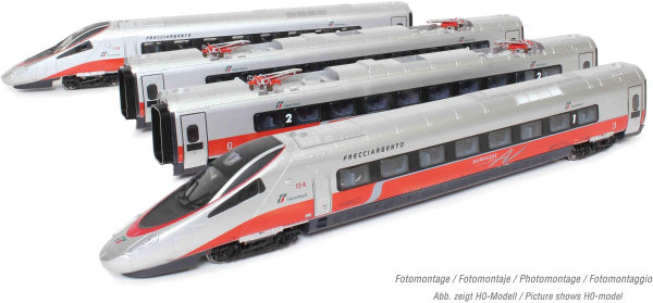 Arnold HN2473S - Italian 4-unit base EMU set Class ETR 610 of the FS (Sound)