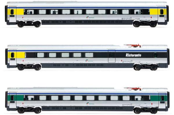 Arnold HN3504 - Trenitalia, 3-unit pack ETR 610 intermediate coaches, ex Cisalpino livery