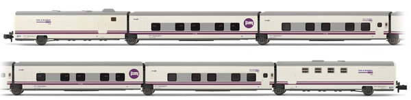 "Arnold HN4210 - 6pc Train Set Talgo ""Train & Breakfast"" of the Renfe Operadora"