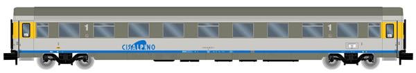 Arnold HN4266 - Cisalpino, passenger coach A, silver/grey livery, 1st class