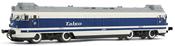 """Diesel locomotive, class 354, running number 354 004-4 """"Virgen de Guadalupe"""" RENFE"""