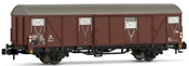 Closed wagon Glmms61, black chassis, DB