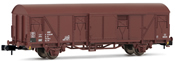 Closed wagon Gbs 252, brown chassis, DR