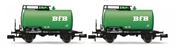 "Set x 2 tank wagons: type Z, with lettering ""BfB"" DB"