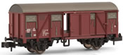 Closed wagon type Gs213, livery brown, DR