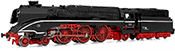 German Steam Locomotive Class 18 201 with fuel tender of the DR (Digital)