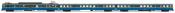 RENFE, 3-unit EMU, class 440, original blue/yellow livery, period IV-V
