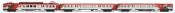 RENFE, 3-unit EMU, class 440, white/red/purple Cercanías livery, period V-VI
