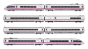 RENFE, 8-unit highspeed EMU, AVE S-103 in perlescent/purple livery, period VI