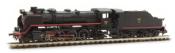 RENFE, steam locomotive 141F Mikado with pre-heater in, period III