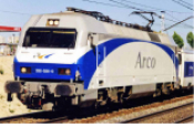 RENFE, 252 electric locomotive Arco, white, blue and grey livery, ep. V  DCC