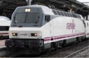 RENFE, 252 electric locomotive Alvia Picasso, white and purple livery, ep. VI DCC