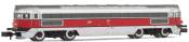 RENFE, Talgo diesel locomotive 3004T Virgen de la Paloma, red/silver livery, period III