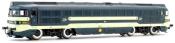 RENFE, Talgo diesel locomotive 353-003 Virgen del Yugo, blue/beige livery, period IV