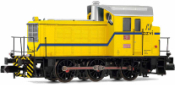 RENFE, diesel shunting locomotive 10393, yellow livery azvi, period V