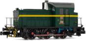 RENFE, diesel shunting locomotive, Dark green/yellow livery