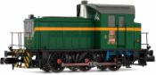 RENFE, diesel shunting locomotive class 303, green/yellow livery, period IV