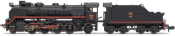 RENFE, 141F 2315 Mikado steam locomotive with pre-heaters, ep. III