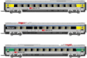 3-unit pack ETR 610 intermediate coaches, ex Cisalpino livery