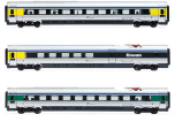 Trenitalia, 3-unit pack ETR 610 intermediate coaches, ex Cisalpino livery