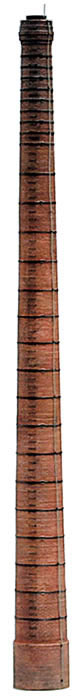 Artitec 10.249 - Brick smokestack w/ steel rings