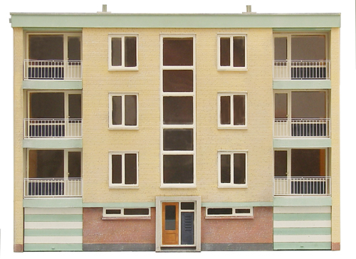 Artitec 10.282 - Facade of the front of a multi-storey building