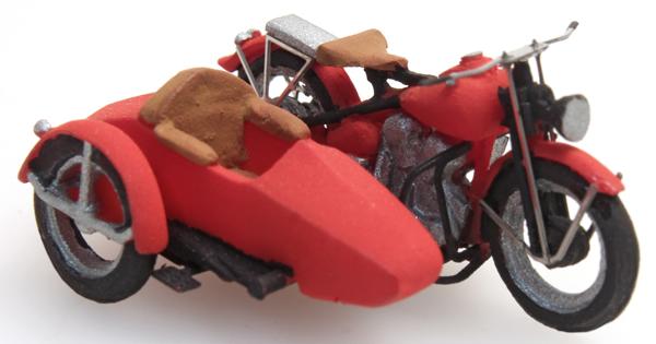 Artitec 10.286 - U.S. Motorcycle Liberator + sidecar
