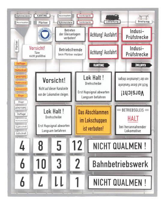 Artitec 10.352 - German railway yard signs, III-IV