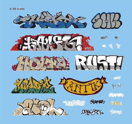 Artitec 10.359 - Graffiti,water-slide decal