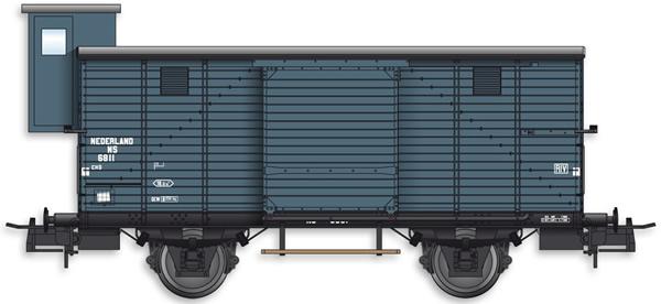 Artitec 20.217.01 - Dutch Box Car CHD 4w. 6811 w. Brakemans Cab