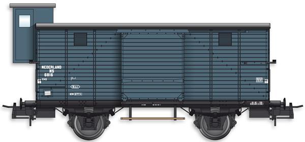 Artitec 20.217.02 - Dutch Box Car CHD 4w. 6816 w. Brakemans Cab