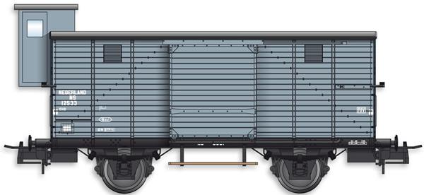 Artitec 20.217.03 - Dutch Box Car CHD 4w. 12533 w. Brakemans Cab