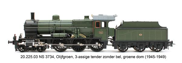 Artitec 20.225.03 - Dutch Steam Locomotive NS 3734, analog DC