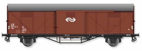 Artitec 20.310.08 - Dutch Box Car Hongaar Gbls NS 21 84 156 3 213-0, brown, IV